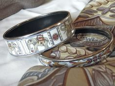 MaiTai's Picture Book: Hermes scarf and printed enamel bangles