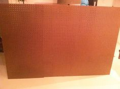 This is actually a smart way to make a headboard. However, I will be taking it one step further. Rather than using the pegboard as your structural support (which the author admits is flimsy and must be attached to the wall), why not lay pegboard *over* your mdf/plywood support and use it as a hole template and mark your holes before drilling? [Little Green Notebook: DIY Tufted Headboard using a pegboard]