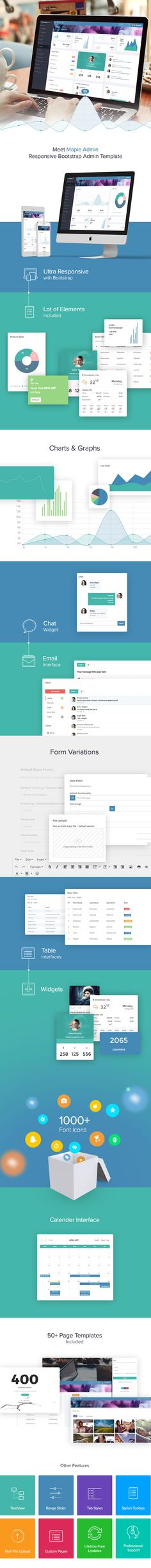 Ebro - Super Clean Responsive Admin Template Template site - one page summary template