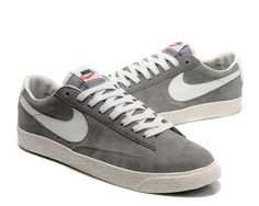 Nike Blazer Premium Vintage Suede Mens Shoes Grey Shoes UK New Online