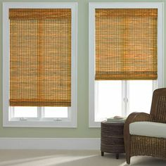 jcp home bamboo woven wood roman shade. these are wonderful. easy to install. this is the second set i've bought. custom, so measure carefully. don't buy the cordless.