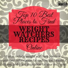The 10 Best Blogs for Weight Watcher Recipes - Becoming Martha