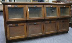 Antique General Store Produce Counter Estimated auction $300 Wickliff Auctioneers