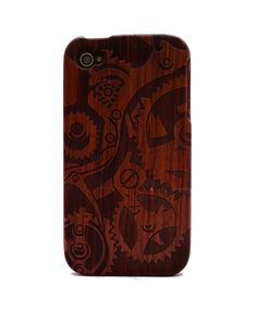 Gear Engraved Rosewood iPhone4/4s Wood Case