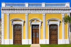 Glamorous Architecture On Paseo De Montejo - Merida by Mark Tisdale - Old Wooden Doors and brilliant colors