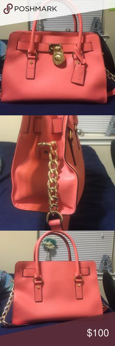 Coral mk purse (authentic) Gently used great shape KORS Michael Kors Bags Shoulder Bags
