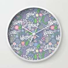 How Does Your Garden Grow Wall Clock