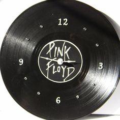 PINK FLOYD White Vinyl Record LP Wall Clock by PandorasCreations, $25.00
