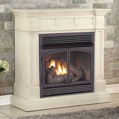 Dual Fuel Fireplace. Indoor FireplacesElectric FireplacesVentless Propane  FireplaceBarn HousesHouse RenovationsNatural Gas ...