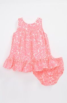 Lilly Pulitzer® 'Caldwell' Dress & Bloomers (Baby Girls) available at #Nordstrom (color: Cosmo Pink)