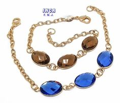 """1-0679-f10 18kt Brazilian Gold Layered 7.5"""" Bracelet with Flat Faceted 11mm Crystal Stones."""