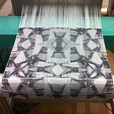 woven jacquard sample. broken mirrors Broken Mirror, Weaving Textiles, Mirrors, Weave, Hand Weaving, Fabrics, Quilts, Play, Blanket