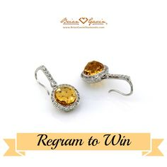 Here's your chance to win these stunning Citrine earrings from Brian Gavin Diamonds' brilliant colored gemstone collection. Find details by following Brian Gavin Diamonds on Instagram.  http://instagram.com/briangavindiamonds/