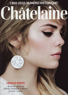 Beatrice Martin (Cœur de pirate) cover of Chatelaine Beatrice Martin, Eye Makeup, Hair Makeup, Eyes Lips Face, Makeup Application, Perfect Skin, War Paint, Woman Face, Makeup Inspiration