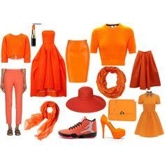 """Orange"" by msara23 on Polyvore"