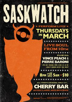 Saskwatch @ Cherry Bar