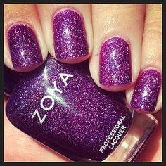 kelliegonzo:  @zoyanailpolish Aurora #notd #nails #nailpolish...