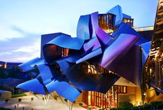 Hotel Marques de Riscal - Elciego, Spain by renowned architect Frank Gehry. Wow. Click to go inside.
