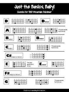 Just the Basics - Mountain Dulcimer Chords to Play Along W