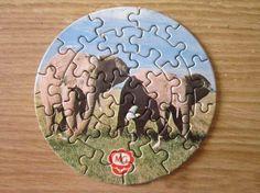 Los puzzles redondos que venían en los quesitos MG