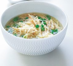 Chicken noodle soup from BBC Good Food by Olive Magazine