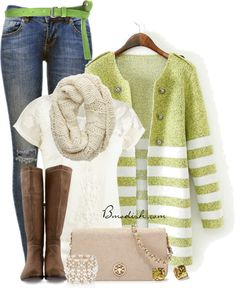 Fresh color fall outfit