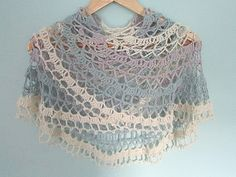 An original shawl design that can be made in any weight yarn and as large or small as you like! Use a silky or mohair laceweight yarn for a summer accessory, or a chunky soft wool for a warm and cosy winter wrap.
