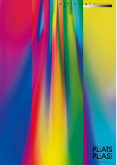 Mitsuo Katsui, poster artwork for collection Pleats Please – Issey Miyake, 1997. From the Dai Nippon Printing Archives. Die Neue Sammlung, München