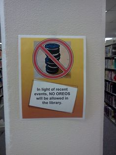 This college library sign: