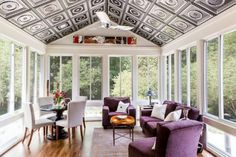 Amazing sunroom ideas on a budget. Learn how to build and decorate an affordable small sun porch design ideas or screened in porch / patio decor. Sunroom Decorating, Sunroom Ideas, Decorating Ideas, Porch Ideas, Patio Ideas, Decor Ideas, Small Sunroom, Conservatory Design, Porch Kits