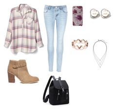 """""""Untitled #22"""" by sashalong on Polyvore featuring Gap, J Brand, Sole Society, Kate Spade and Banana Republic"""