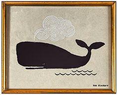 Whale by Rob Blackard  #nautical art   http://instagram.com/p/diyDZPo1YX/