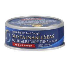 Sustainable Seas No Salt Added Wild Albacore Tuna In Water (12x4.1 Oz)