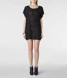 Allsaints Womens Elissa Tee Dress
