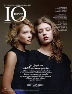 Léa Seydoux, Adèle Exarchopoulos, Io Donna 28 September 2013