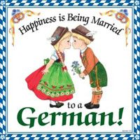 German Gift Wall Plaque Tile: Happiness is Being Married to a German.  German Heritage Gift. www.GermanGiftOutlet.com