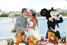My husband and I at our Disney wedding