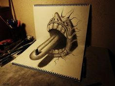 3D Anamorphic Illustrations by Nagai Hideyuki
