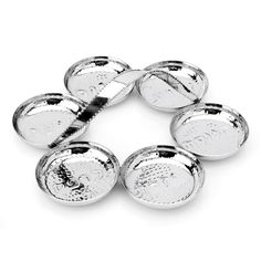 Passover Gifts - Hammered Stainless With Beaded Handle Seder Plate