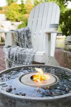 An Aquascape Fire Fountain adds water and excitement to your outdoor living space! Tabletop Water Fountain, Cat Water Fountain, Indoor Fountain, Water Garden, Fountain Ideas, Outdoor Landscaping, Backyard Patio, Outdoor Gardens, Garden Fountains