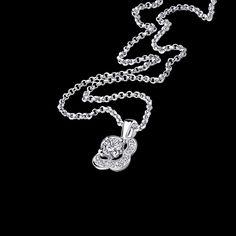 Pendentif Chance of Love n°2, or blanc, diamants - Mauboussin