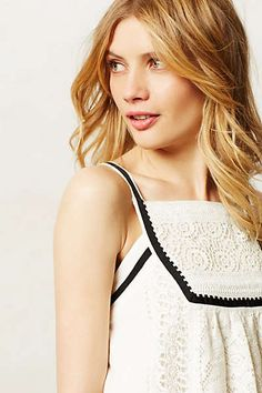 Anthropologie - Framed Lace Tank