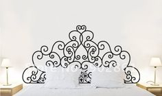"[funlife] Queen size (60"" L 152cm) Luxury design vinyl bedroom headboard-in Wall Stickers from Home & Garden on Aliexpress.com $20.00 aliexpress.com"