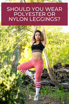 Should you be wearing polyester while working out, or should you stick to nylon? We share 4 reasons that nylon trumps polyester! #thebetterfit #leggingsfabric #nylonleggings #activewear  #yoga #yogapants High Intensity Workout, Love Handles, Best Leggings, Workout Outfits, Going Out Dresses, Spanx, Work Attire, Leggings Fashion, Workout Leggings