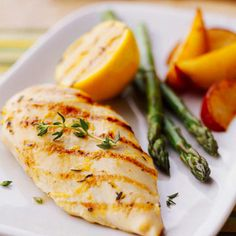 We've used an oil-free marinade on our tasty Grilled Lemon Chicken.