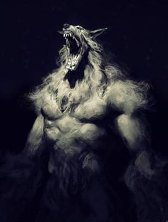 cabin in the woods werewolf wip Dark Fantasy Art, Dark Art, Fantasy Creatures, Mythical Creatures, Werewolf Art, Vampires And Werewolves, World Of Darkness, Monster Art, Horror Art