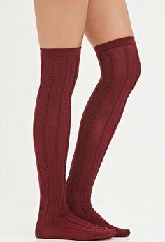 Textured Over-the-Knee Socks | Forever 21 - 2000173694