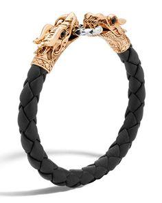 Legends+Naga+Dragon+Leather+Bracelet+by+John+Hardy+at+Neiman+Marcus.