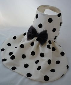 PAPYRUS DOTS Taffeta Dress for Small Dogs by FurryTaleCouture, $52.00
