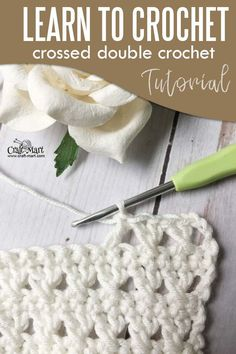 Learn to Crochet: crossed double crochet tutorial - Craft-Mart Learn to crochet crossed double crochet stitch with easy ste-by-step tutorial. This lacy textured crochet stitch uses only 2 basic crochet stitches. Crochet Afghans, Easy Crochet Stitches, Crochet Simple, Single Crochet Stitch, Crochet Basics, Crochet For Beginners, Crochet Patterns, Crochet Ideas, Different Crochet Stitches
